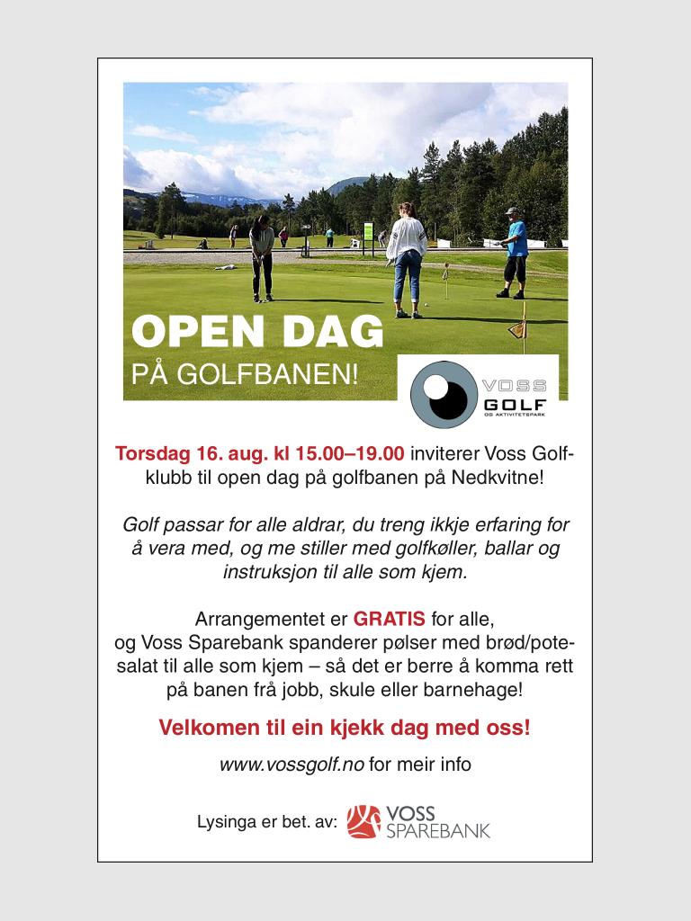 Open dag på golfbanen!