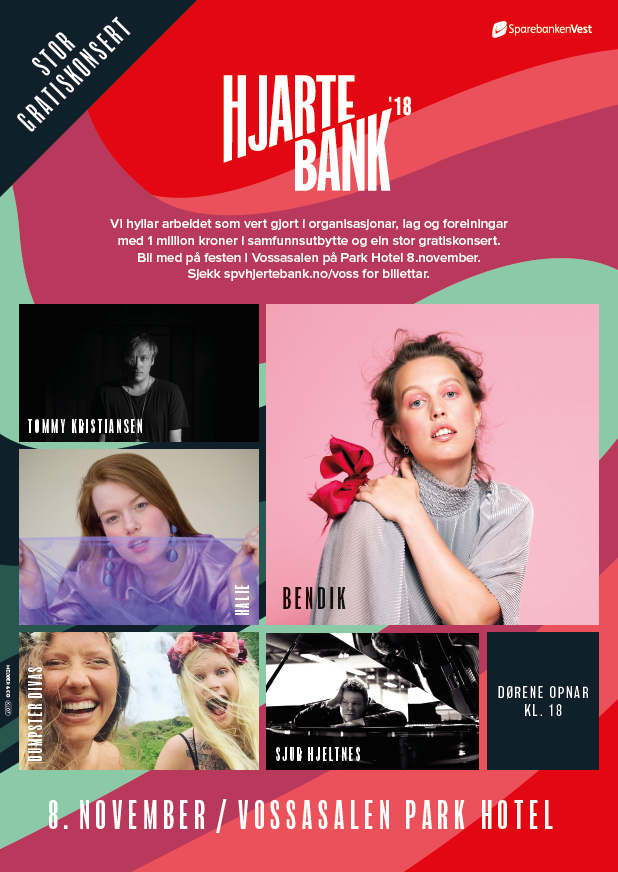 Hjartebank gratiskonsert